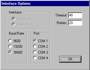 Interface Options Screen
