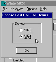 Screen - Hardware | Select FRC Device | Choose