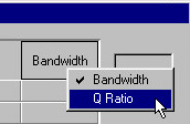 Screen - Tabular | Bandwidth | Q